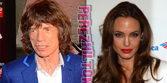 Mick Jagger and Angelina Jolie
