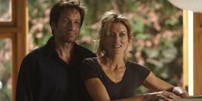 David Duchovny and Natascha McElhone