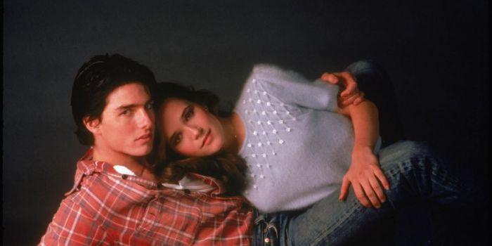 Tom Cruise and Lea Thompson