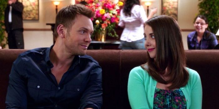Joel McHale and Alison Brie