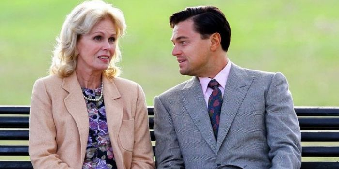 Joanna Lumley and Leonardo DiCaprio