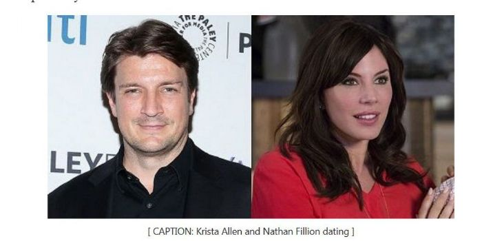 Nathan Fillion and Krista Allen