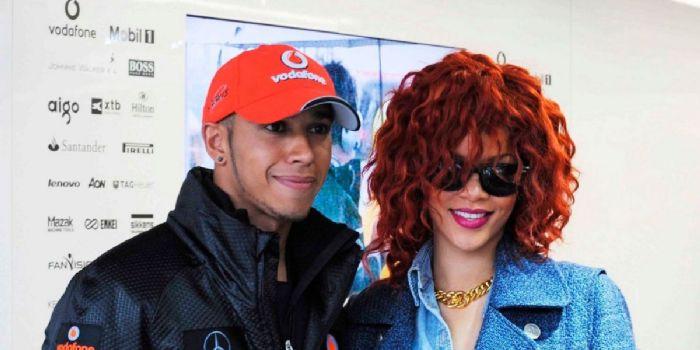 Lewis Hamilton and Rihanna