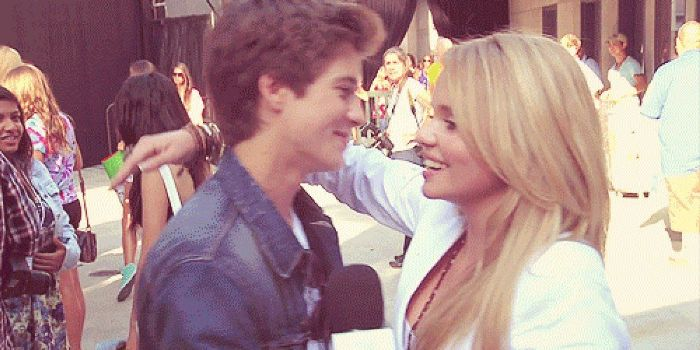Billy Unger and Alli Simpson