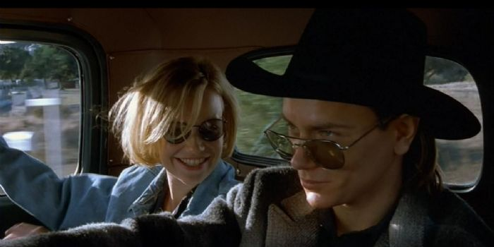River Phoenix and Samantha Mathis