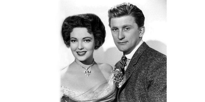 Linda Darnell and Kirk Douglas
