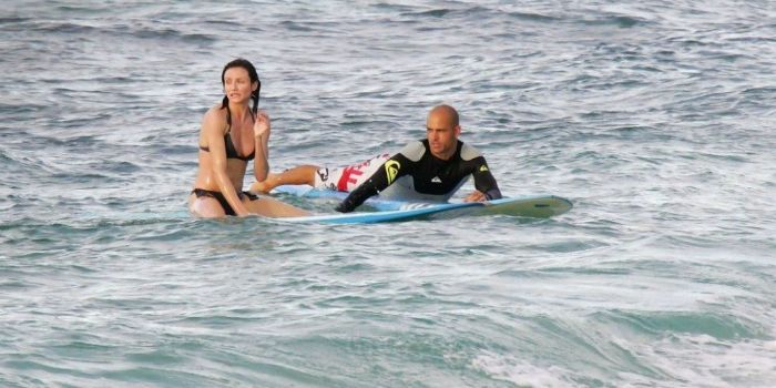 Cameron Diaz and Kelly Slater