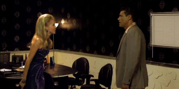 Madison Walls and Steven Bauer