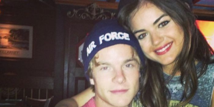 Graham Rogers and Lucy Hale