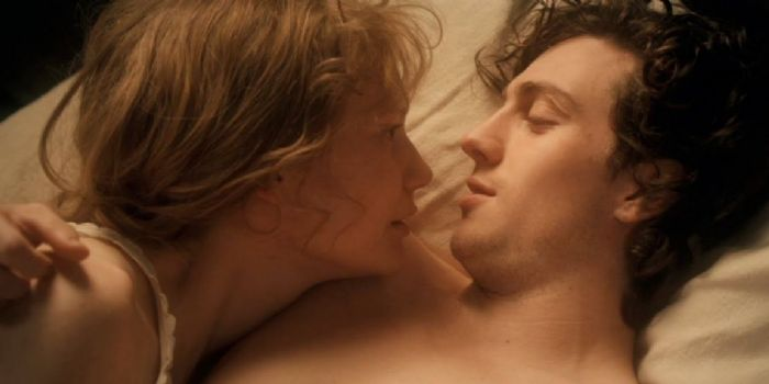 Mia Wasikowska and Aaron Taylor-Johnson