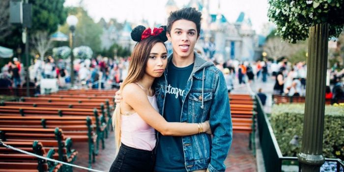 Eva Gutowski and Brent Rivera