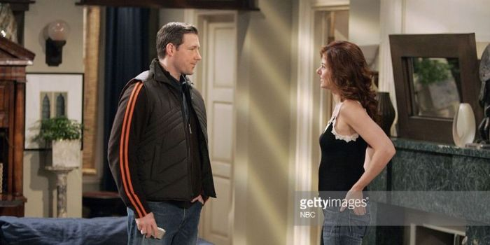 Debra Messing and Edward Burns