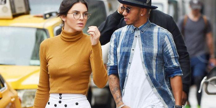 Lewis Hamilton and Kendall Jenner