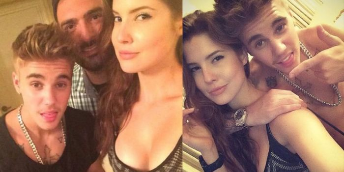 Justin Bieber and Amanda Cerny