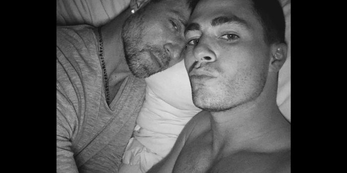 Colton Haynes and Jeff Leatham