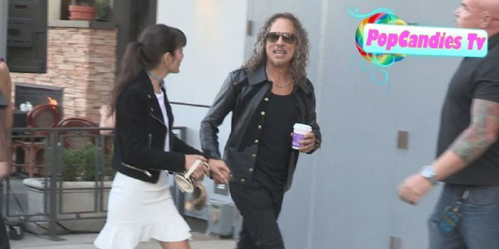 Kirk Hammett and Lani Hammett