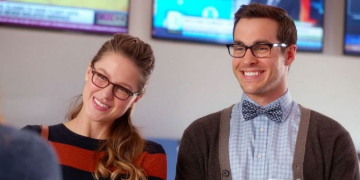 Melissa Benoist and Chris Wood