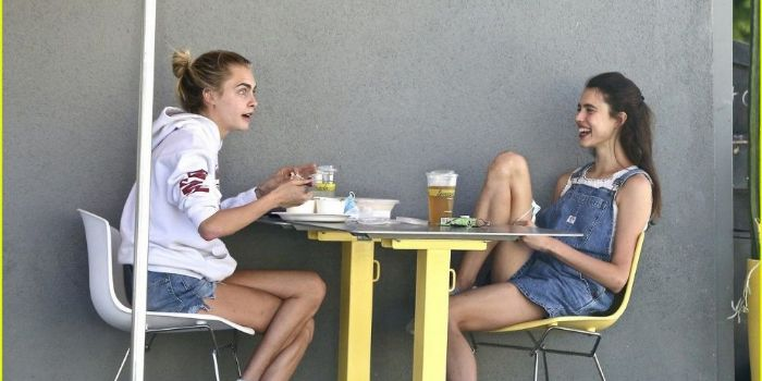 Cara Delevingne and Margaret Qualley