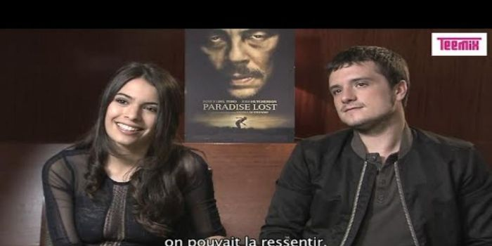 Josh Hutcherson and Claudia Traisac