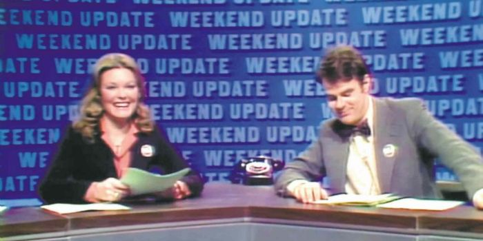 Jane Curtin and Dan Aykroyd