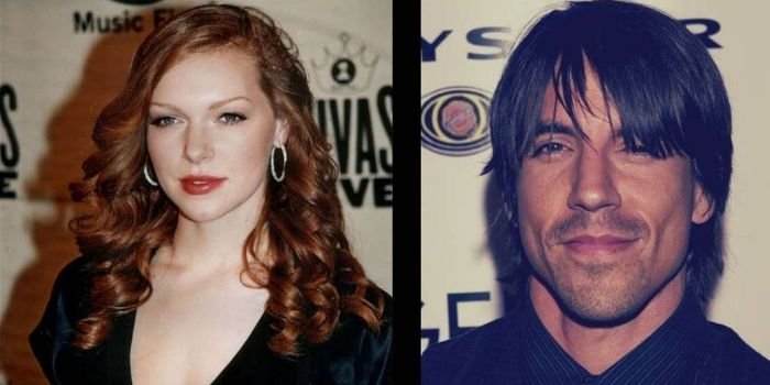 Anthony Kiedis and Laura Prepon