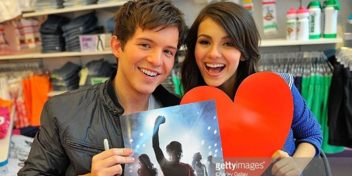 Simon Curtis and Victoria Justice
