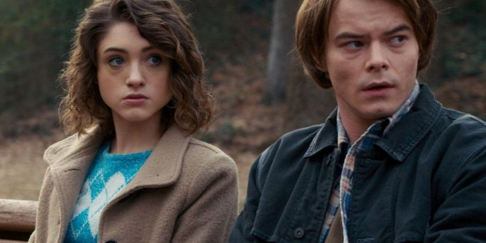 Natalia Dyer and Charlie Heaton