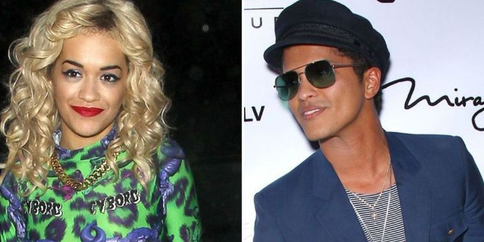 Rita Ora and Bruno Mars