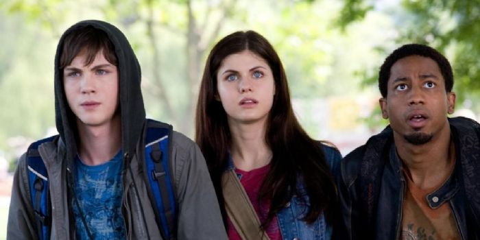 Logan Lerman and Alexandra Daddario