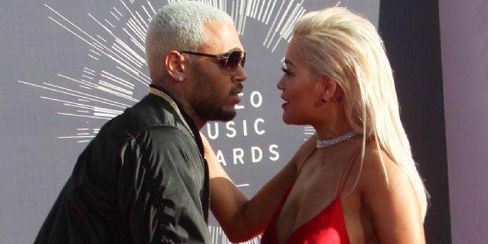 Chris Brown and Rita Ora