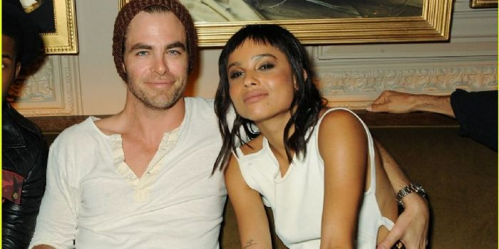 Chris Pine and Zoë Kravitz