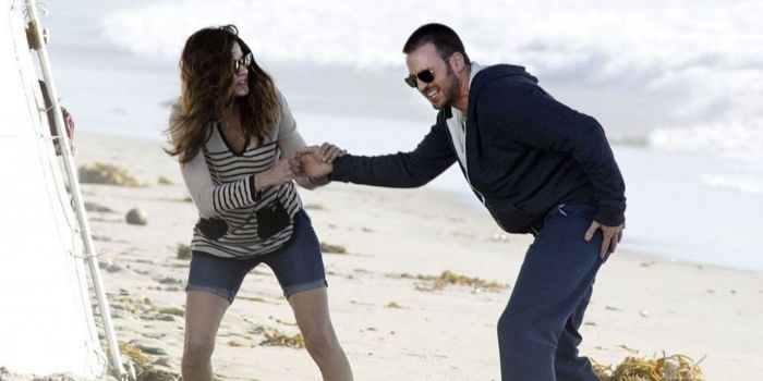 Chris Evans and Michelle Monaghan