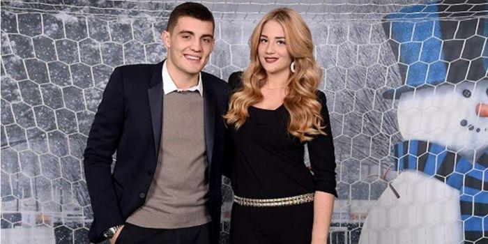 Mateo Kovačić and Izabel Andrijanic