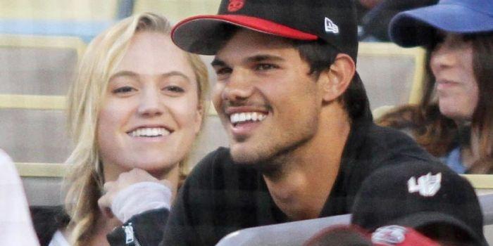 Taylor Lautner and Maika Monroe