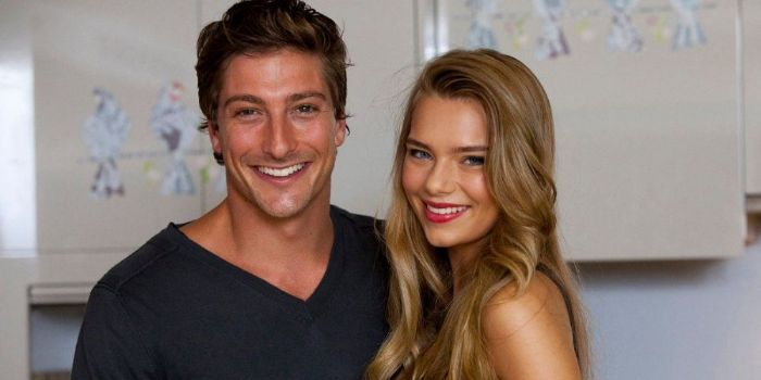 Indiana Evans and Daniel Lissing