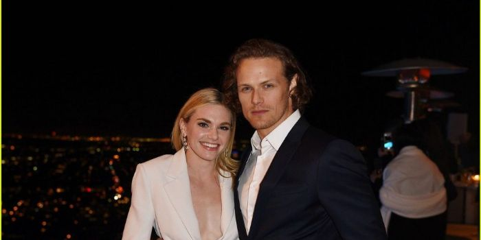 Mackenzie Mauzy and Sam Heughan
