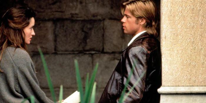 Natascha McElhone and Brad Pitt