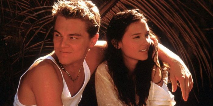 Leonardo DiCaprio and Virginie Ledoyen