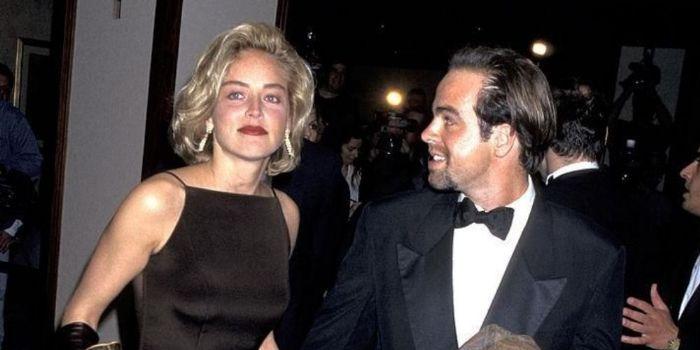Sharon Stone and Bob Wagner