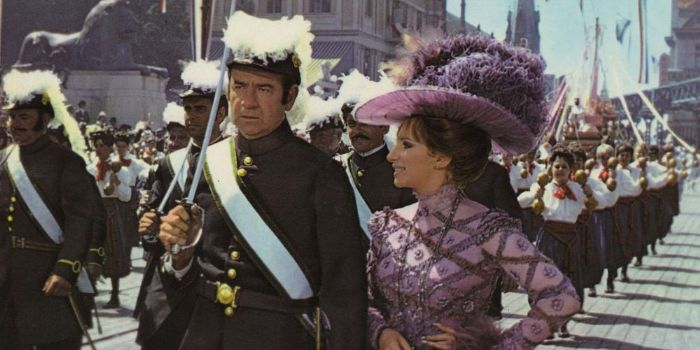 Barbra Streisand and Walter Matthau