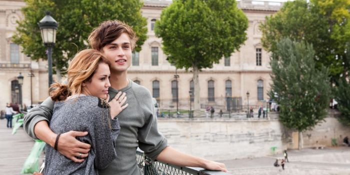 Miley Cyrus and Douglas Booth