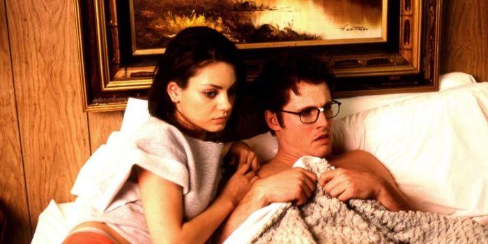 Mila Kunis and Benjamin Gourley