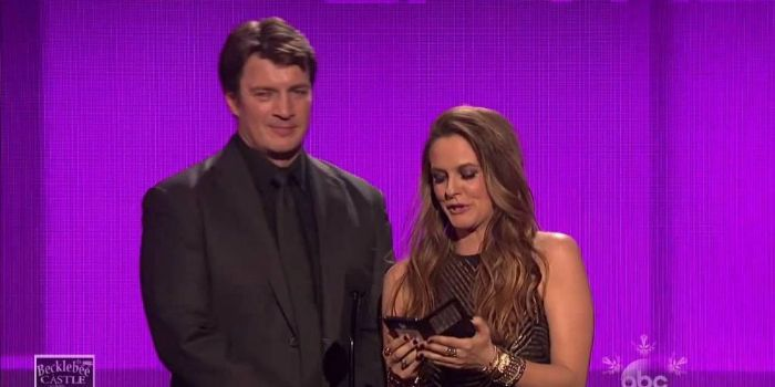 Nathan Fillion and Alicia Silverstone