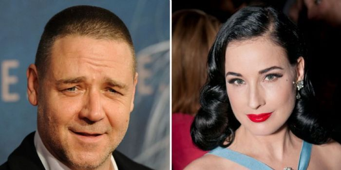 Dita Von Teese and Russell Crowe