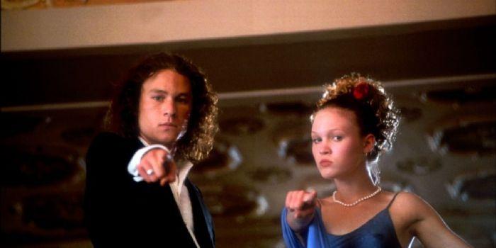 Julia Stiles and Heath Ledger
