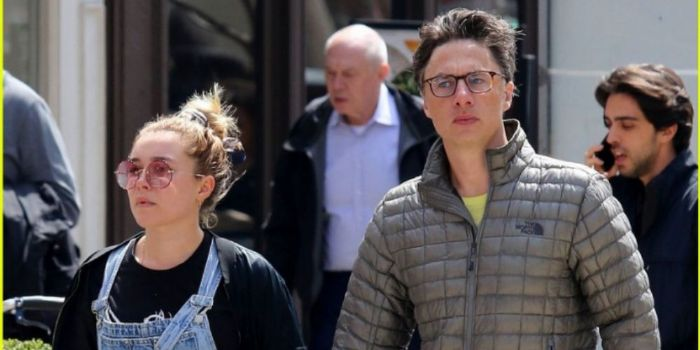 Zach Braff and Florence Pugh