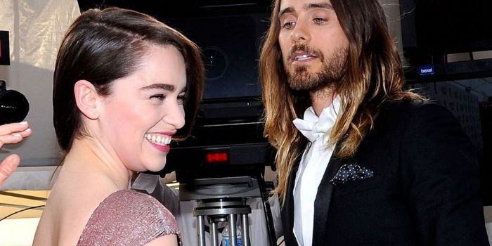 Emilia Clarke and Jared Leto