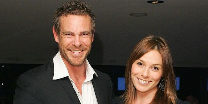 Aaron Jeffery and Zoe Naylor