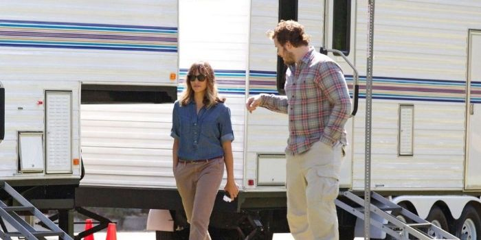 Chris Pratt and Rashida Jones