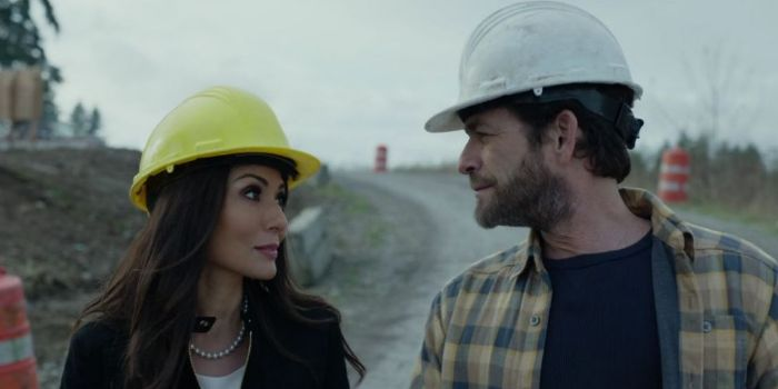 Luke Perry and Marisol Nichols